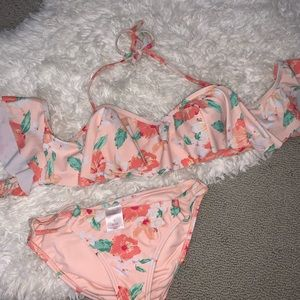 Xhilaration Bikini OTS Floral Print, Size S